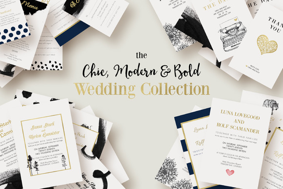 Chic Modern Bold Wedding Collection