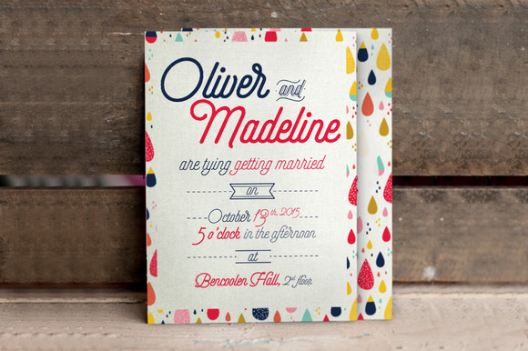 Fun Pattern Wedding Invitation
