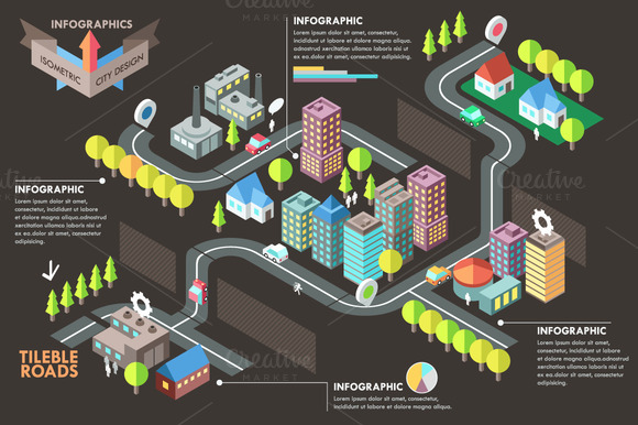 Modern Isometric City Template