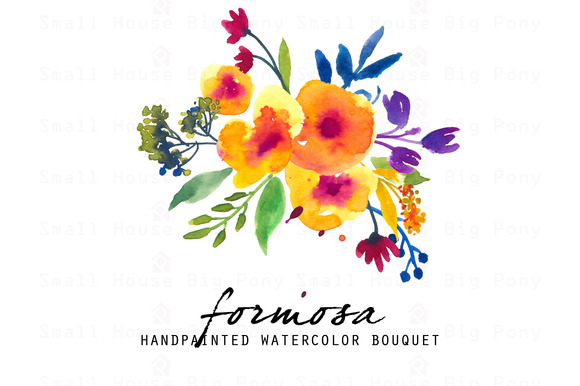 Formosa Watercolor Clip Art Set