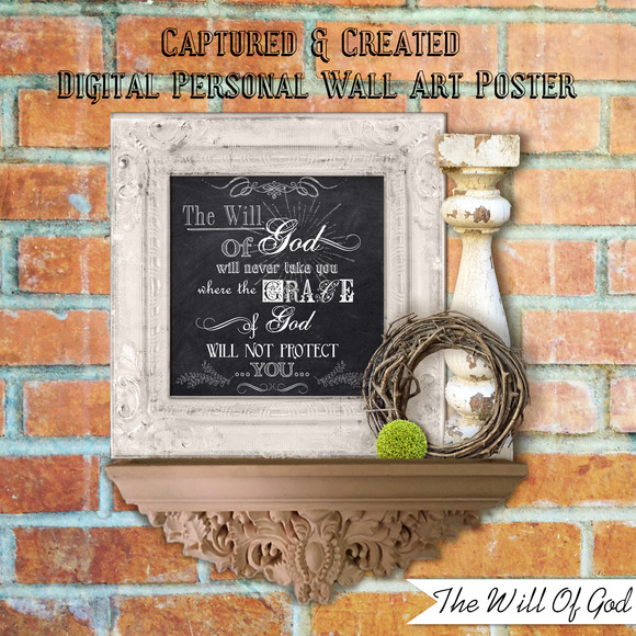 Chalkboard-The Will Of God- Wall Art