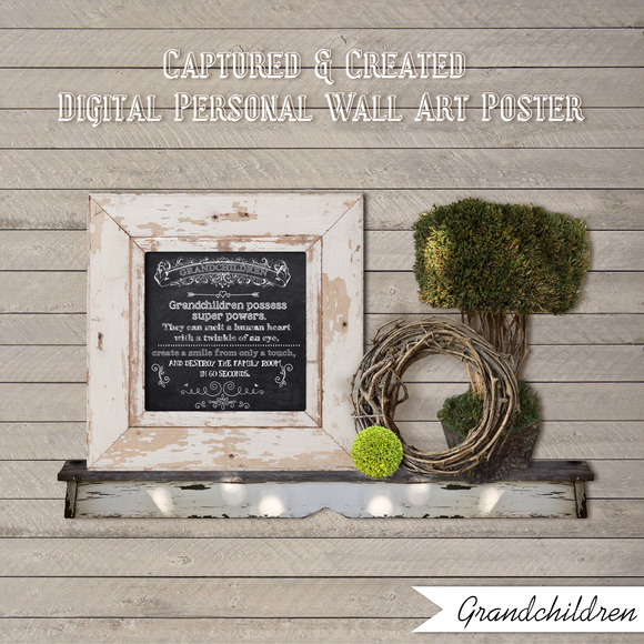 Chalkboard-Grandchildren-Wall Art