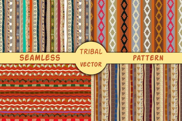 4 Ethnic Seamless Vector