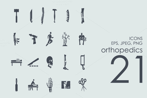 21 Orthopedics Icons