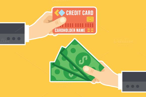 Credit Card Cash Cashback Concept