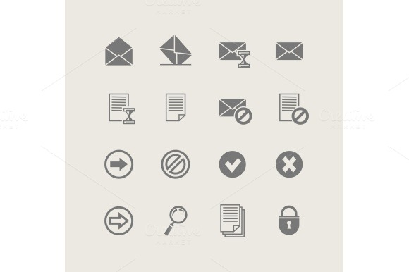 Post Set Of Simple Icons