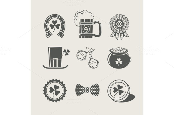 Patrick S Day Set Of Icons