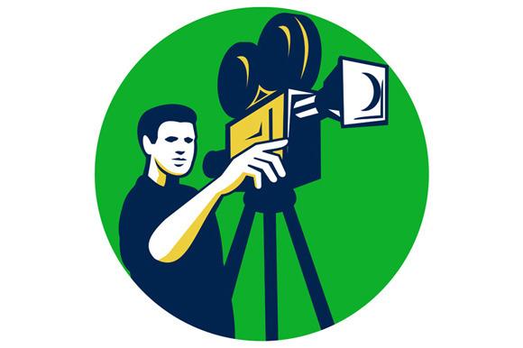 Movie Director Movie Film Camera Cir