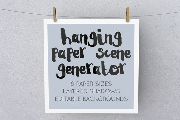 Hanging Paper Scene Generator