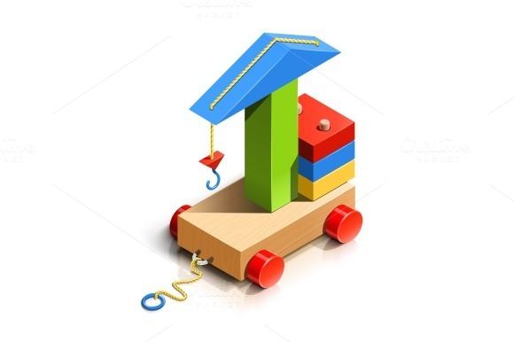 Lifting Crane Wooden Toy
