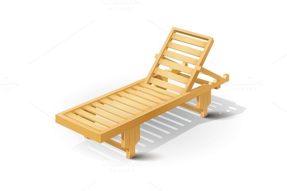 Wooden Beach Bed