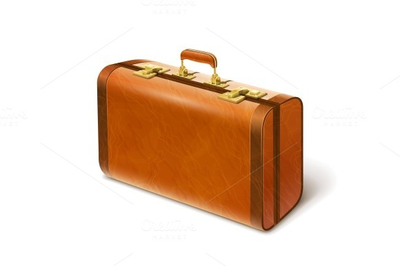 Big Leather Suitcase