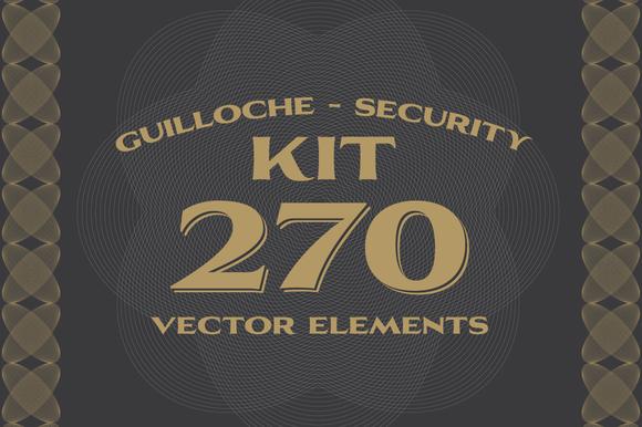 270 Vectors Guilloche Security Kit