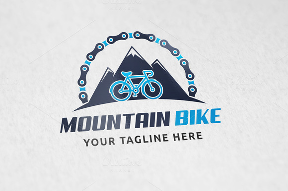 Mountain Biking Logo Template