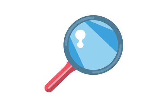 Flat Loupe Icon Search Zoom