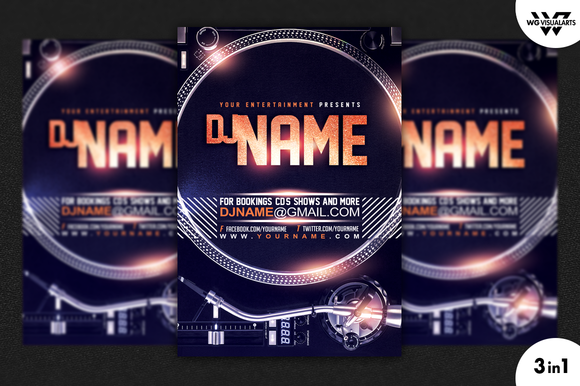 DEEJAY TURNTABLE FLyer Template