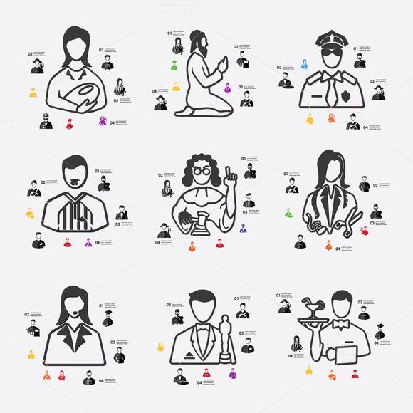 9 Professions Infographics