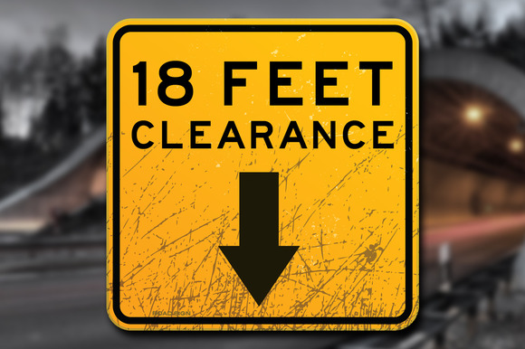 Scratched Clearance Sign Decal
