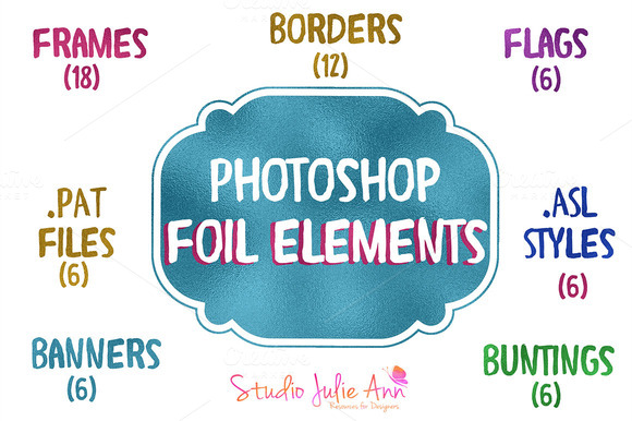 PSD Foil Elements Pat Asl Png