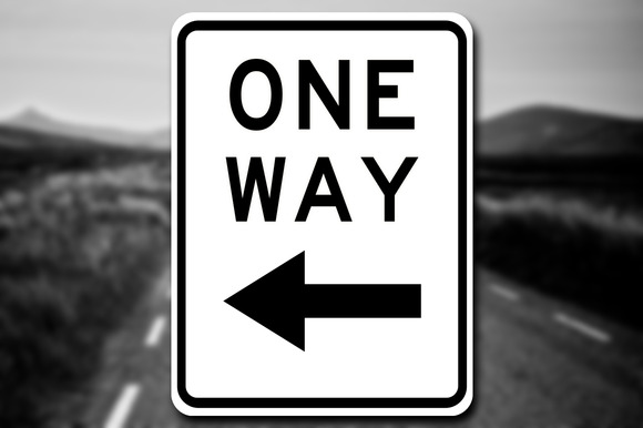 New One Way Sign Decal