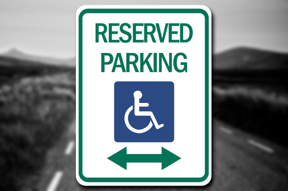 Handicap Reserved Parking Sign Decal