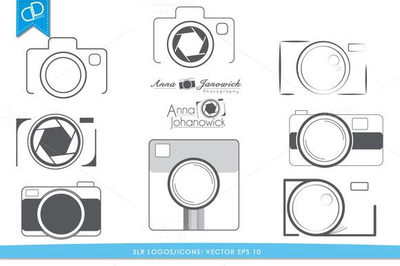 SLR Logos Icons Vector