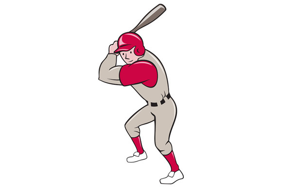 Baseball Player Batting Isolated Car