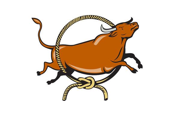 Texas Longhorn Red Bull Jumping Lass