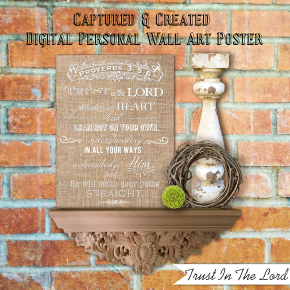 Burlap-Trust In The Lord Wall Art