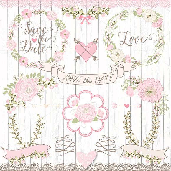 Vector Rose Wedding Flower