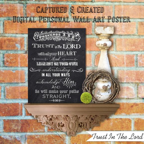 Chalkboard-Trust In The Lord