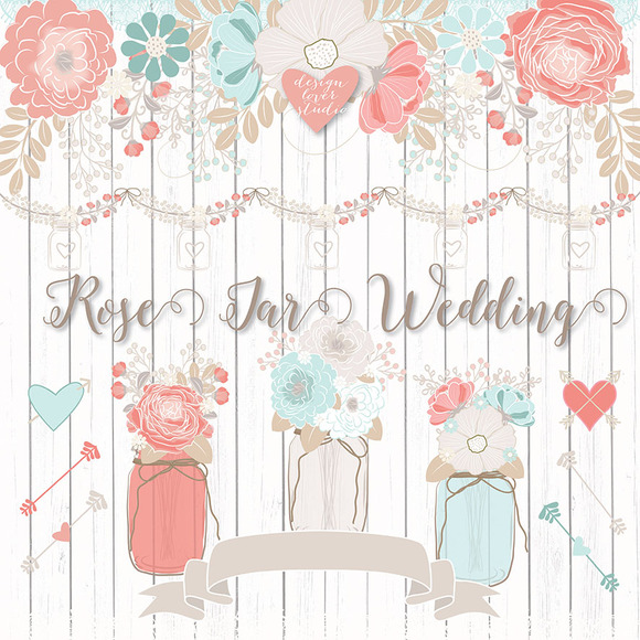 Vector Rose Wedding Flower
