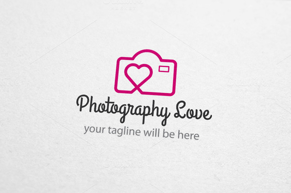 Photography Love Wedding Logo