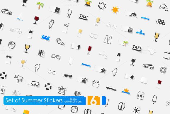 161 Summer Stickers