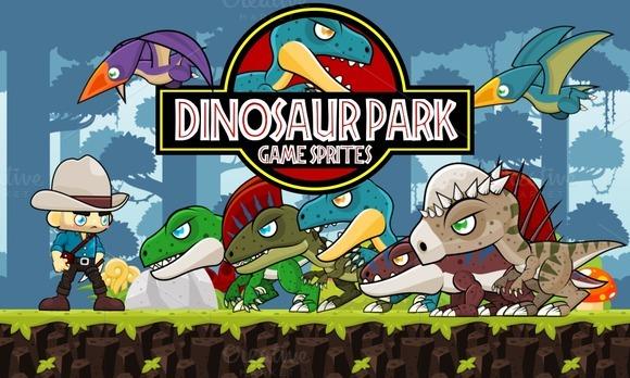 Dinosaur Park Game Sprites