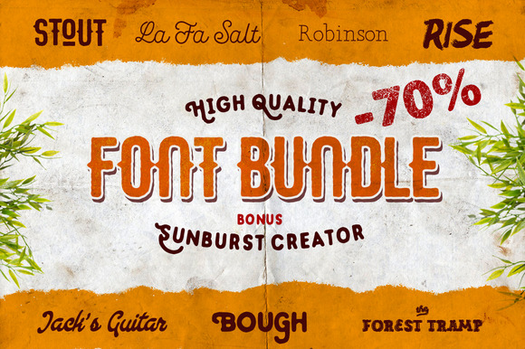 {-70%} FONT BUNDLE 7 In 1 Bonuses