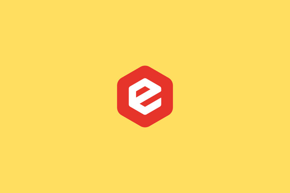 Abstract Letter E Hexagon Logo