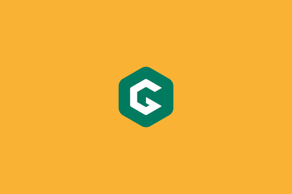 Abstract Letter G Hexagon Logo