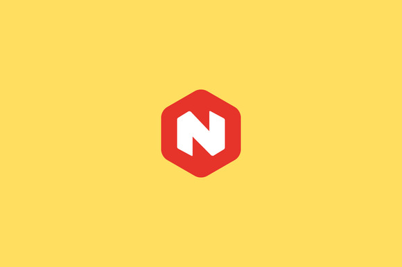 Abstract Letter N Hexagon Logo