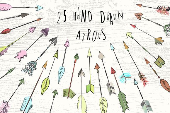 25 Arrows In PNG EPS