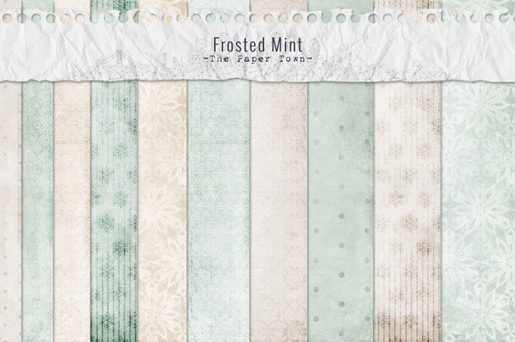Frosted Mint Digital Paper Pack