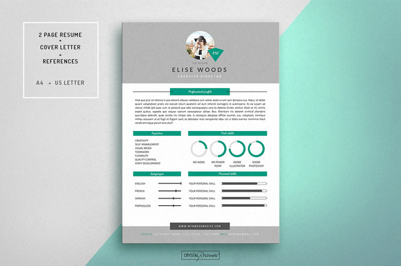 Resume CV Template For Word