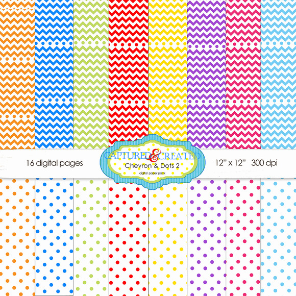 Chevron And Dots 2 Paper Set-16