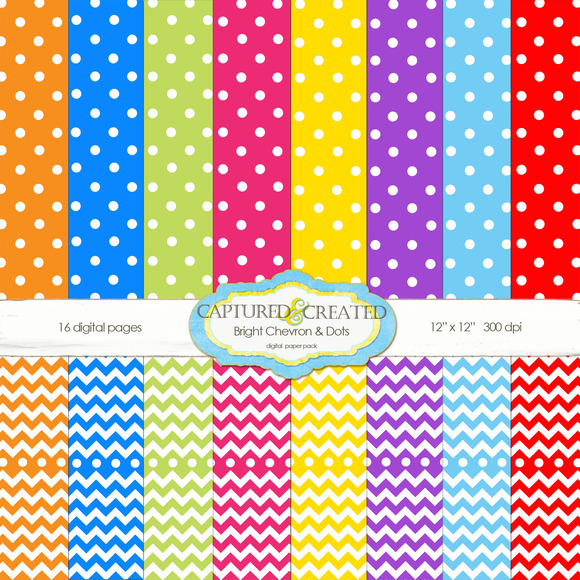 Chevron And Dots Paper Set