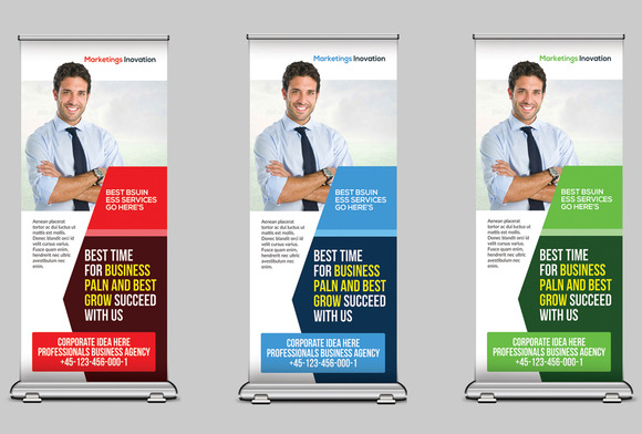 Medical Health Rollup Banners
