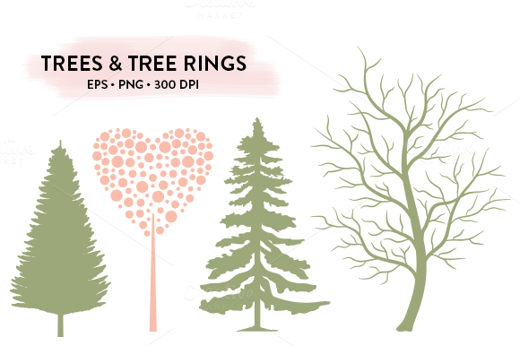Trees Tree Rings EPS PNG
