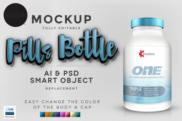 Realistic Pills Bottle V3