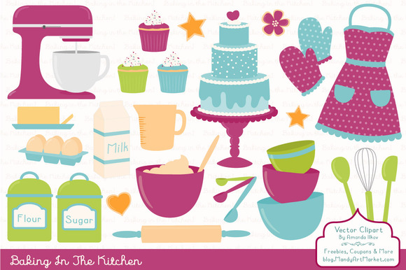 Baking Cake Clipart In Bohemian