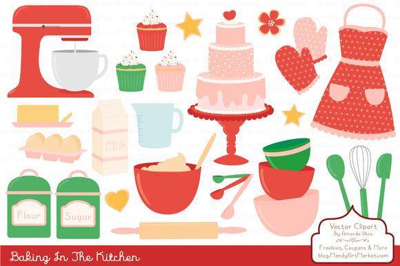 Cherry Bomb Baking Clipart Vectors