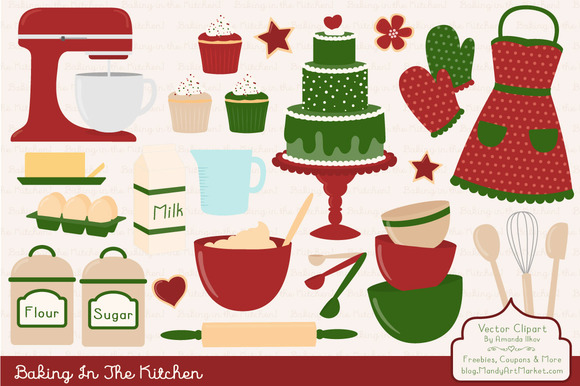 Christmas Baking Clipart Vectors